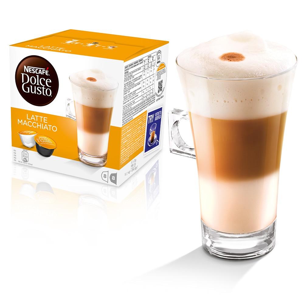Nescafe Dolce Gusto Latte Macchiato 16 capsules (Pack 3)