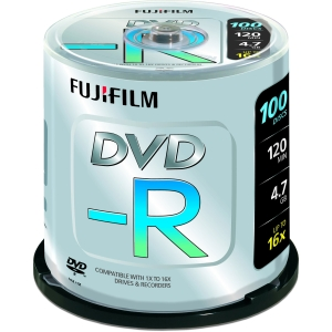 Image for )Fuji 100PK 4.7GB 16X DVD-R Spindle