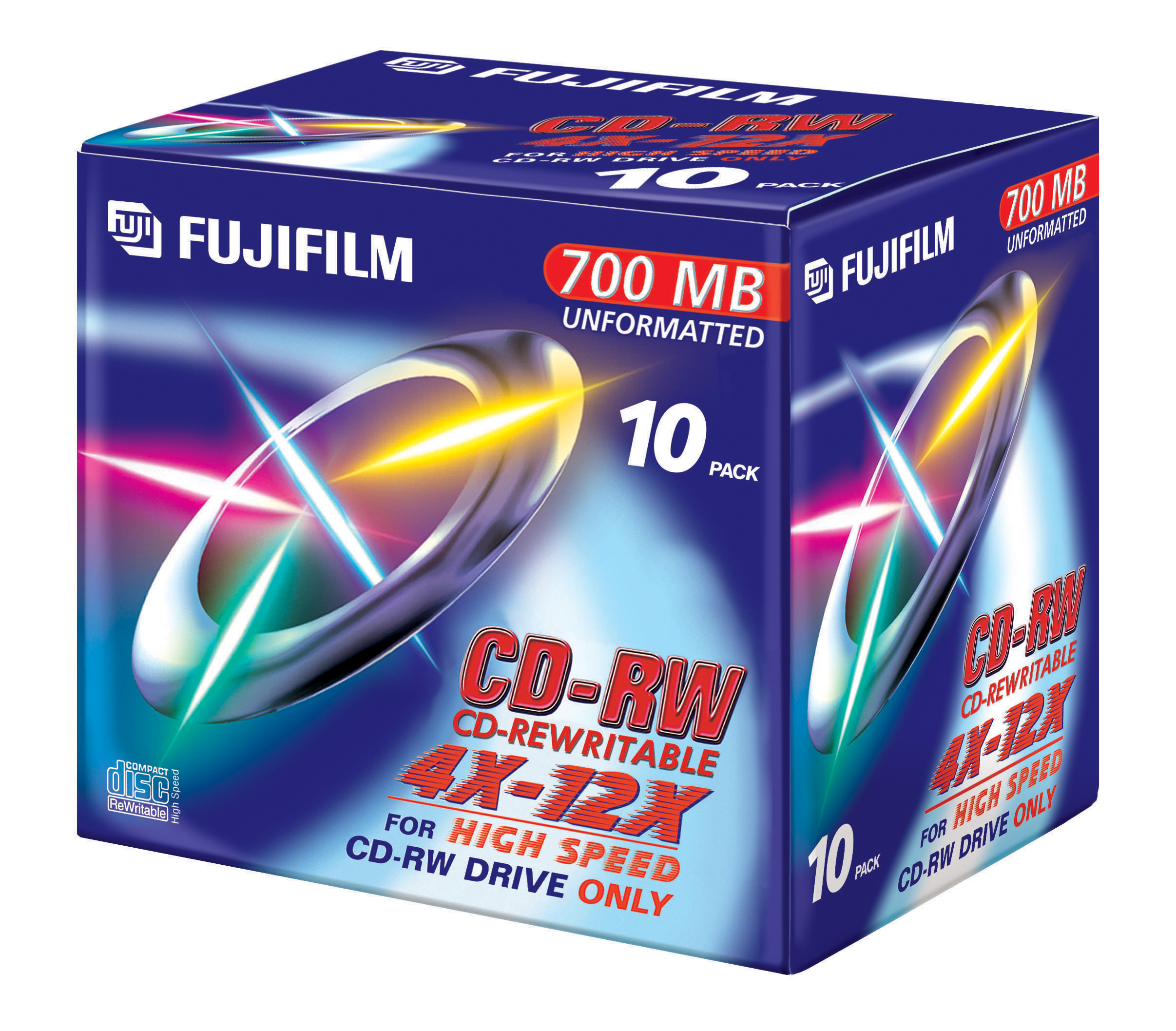 Image for )Fuji 10PK 700MB 12X CD-RW  Jewel Case