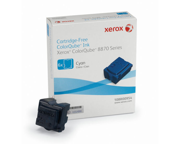 Xerox 108R00954 Cyan Solid Ink 17.3K 6 Pack