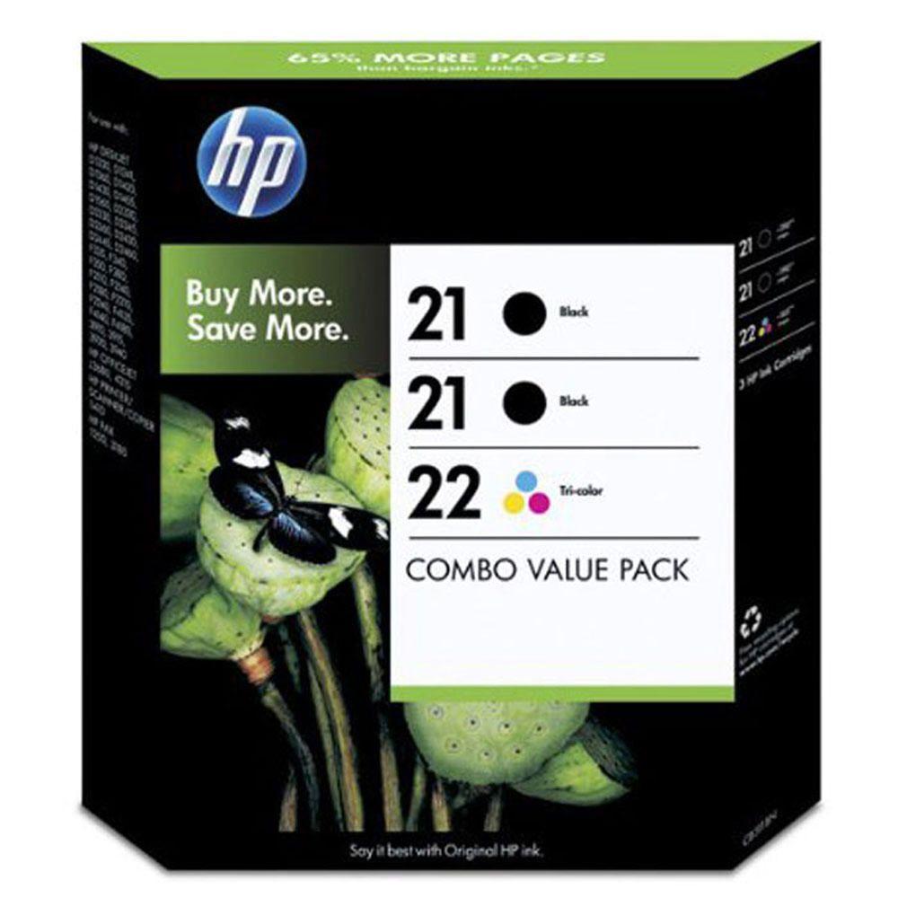 HP 21/22 Black/Colour Ink Pk3 SD400AE