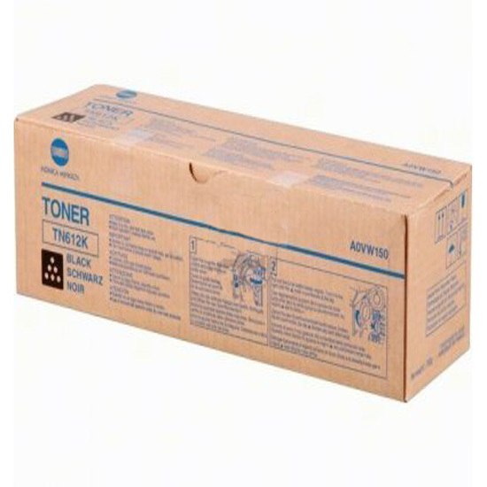 Laser Toner Cartridges Konica Minolta A0VW150 TN612K Black Toner 37.4K
