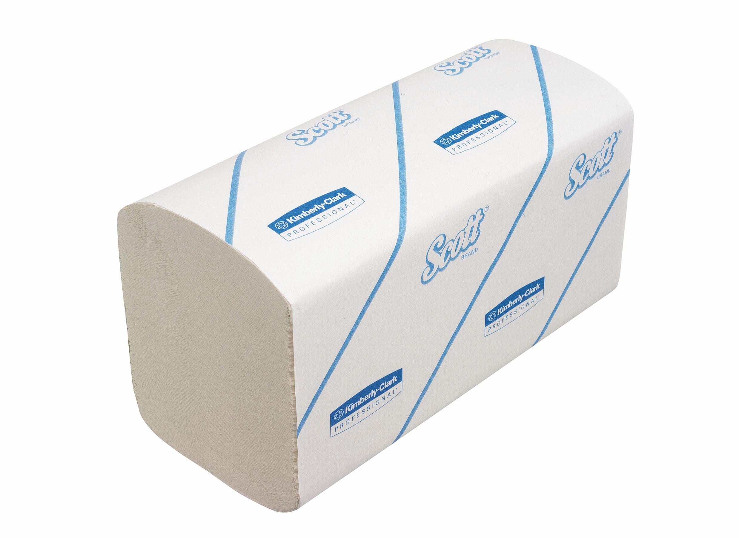 Scott White Sml Hand Towels Folded Pk15