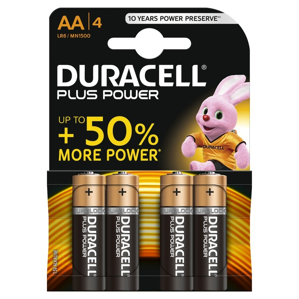 AA Duracell AA Plus Batteries PK4