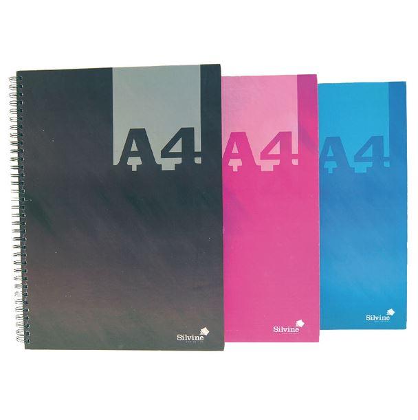 Silvine A4 Wirebound Notebook PK6