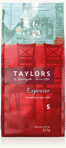 Taylors Espresso Ground Coffee 227g