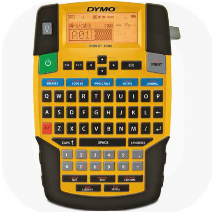Dymo Rhino 4200 Commercial Label Printer QWERTY One Touch Smart Keys Ref S0955950