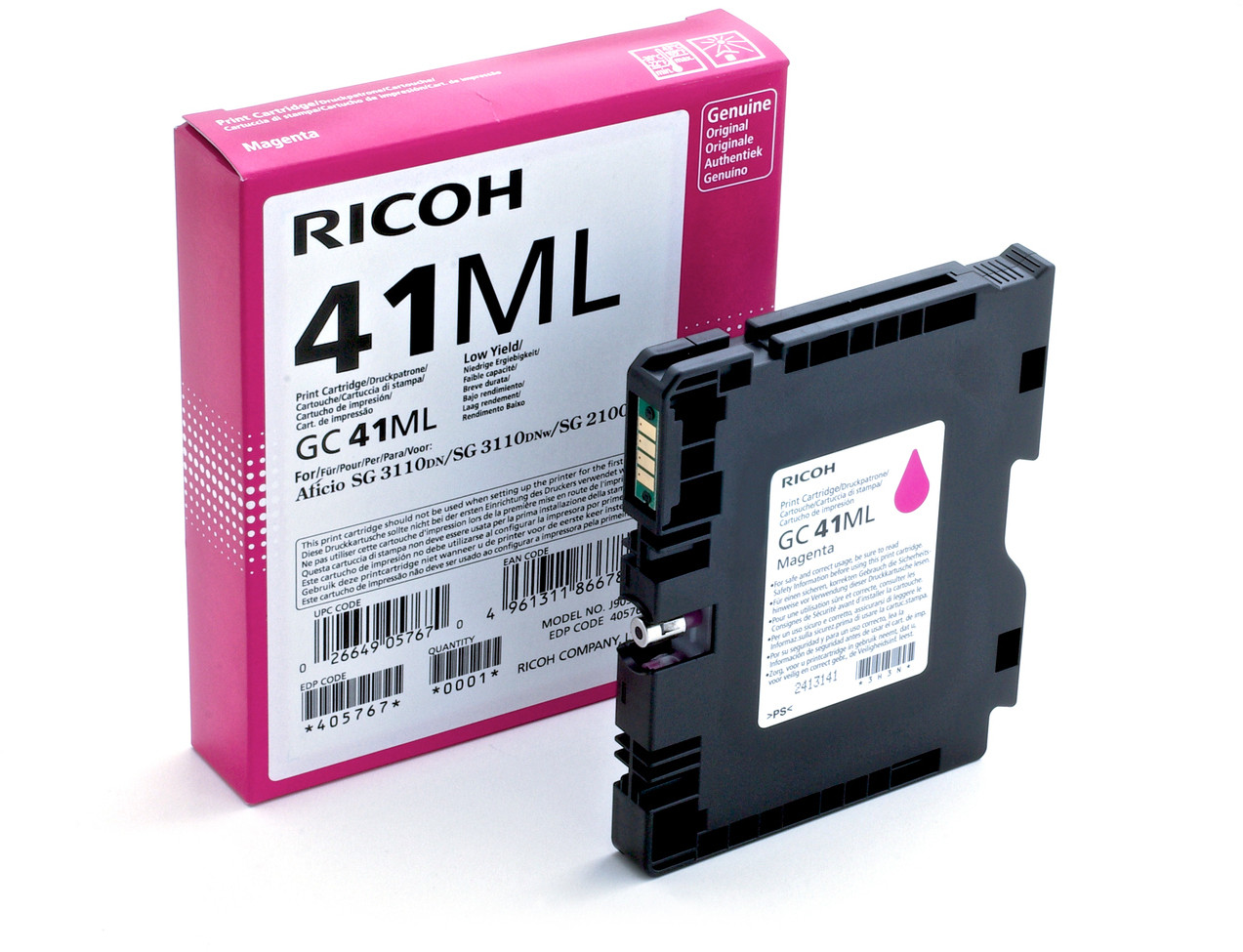 Ricoh 405767 GC41ML Magenta Gel Ink 600