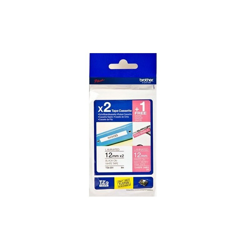 Brother TZE32M3 VALUE PACk LABELLING TAP