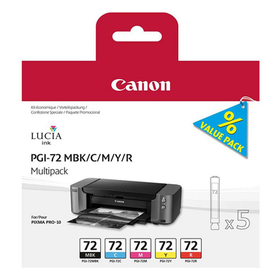 Canon 6402B009 PGI72 Colour Ink 5x14ml Multipack