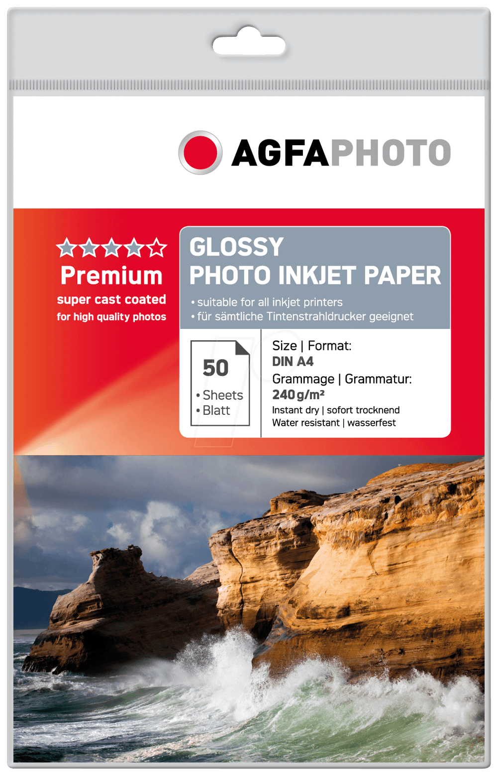 AGFA SILVER PHOTO PAPER A4  PK 50