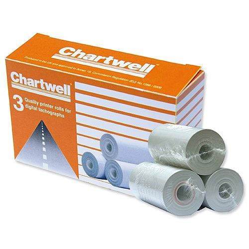 Vehicle Equipment / Supplies Chartwell Digital Tacho Rolls PK3