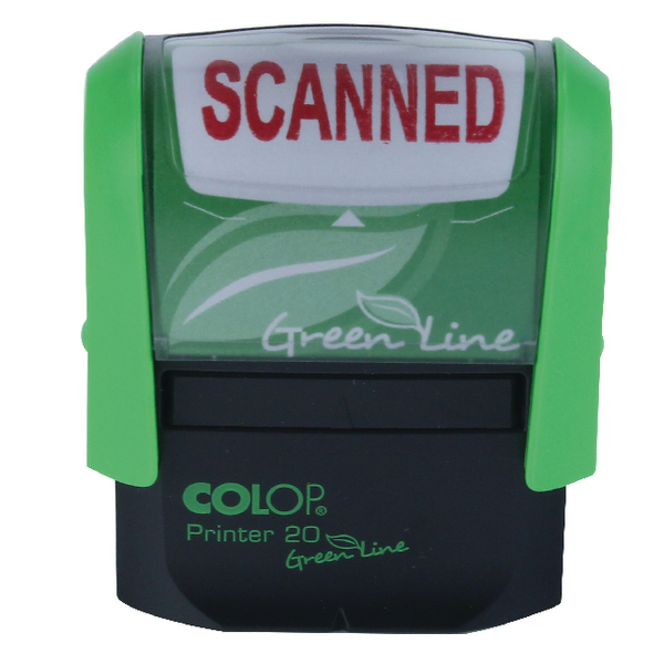 Colop Green Line Self-Inking P20 Stamp SCANNED 37x13mm RD