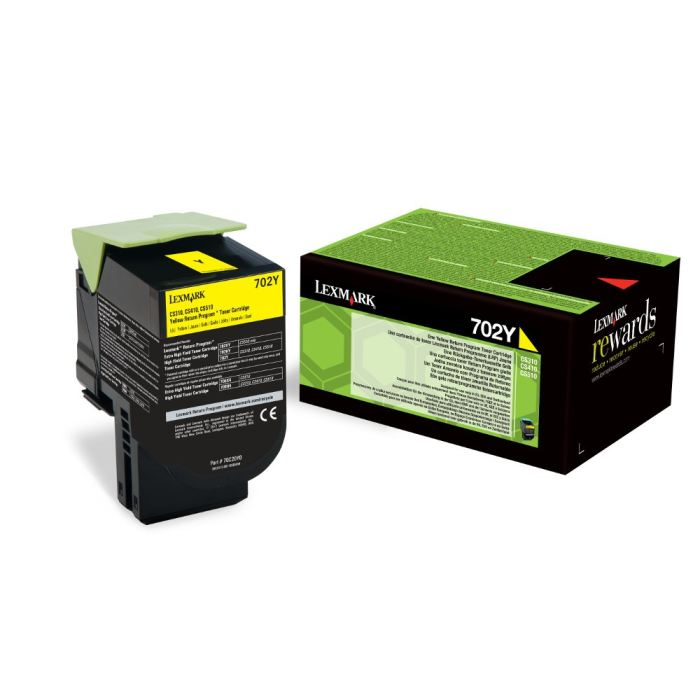 Lexmark Laser Toner Cartridge Return Program Page Life 1000pp Yellow Ref 70C20Y00