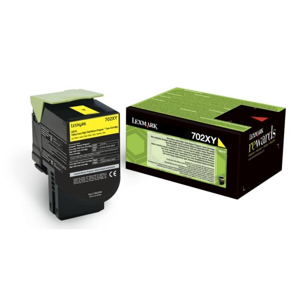 Lexmark 702XY Toner Cartridge Return Program Page Life 1000pp XHY Yellow Ref 70C2XY0