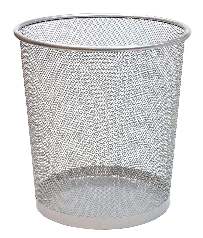 Mesh Waste Bin 35cm Silver