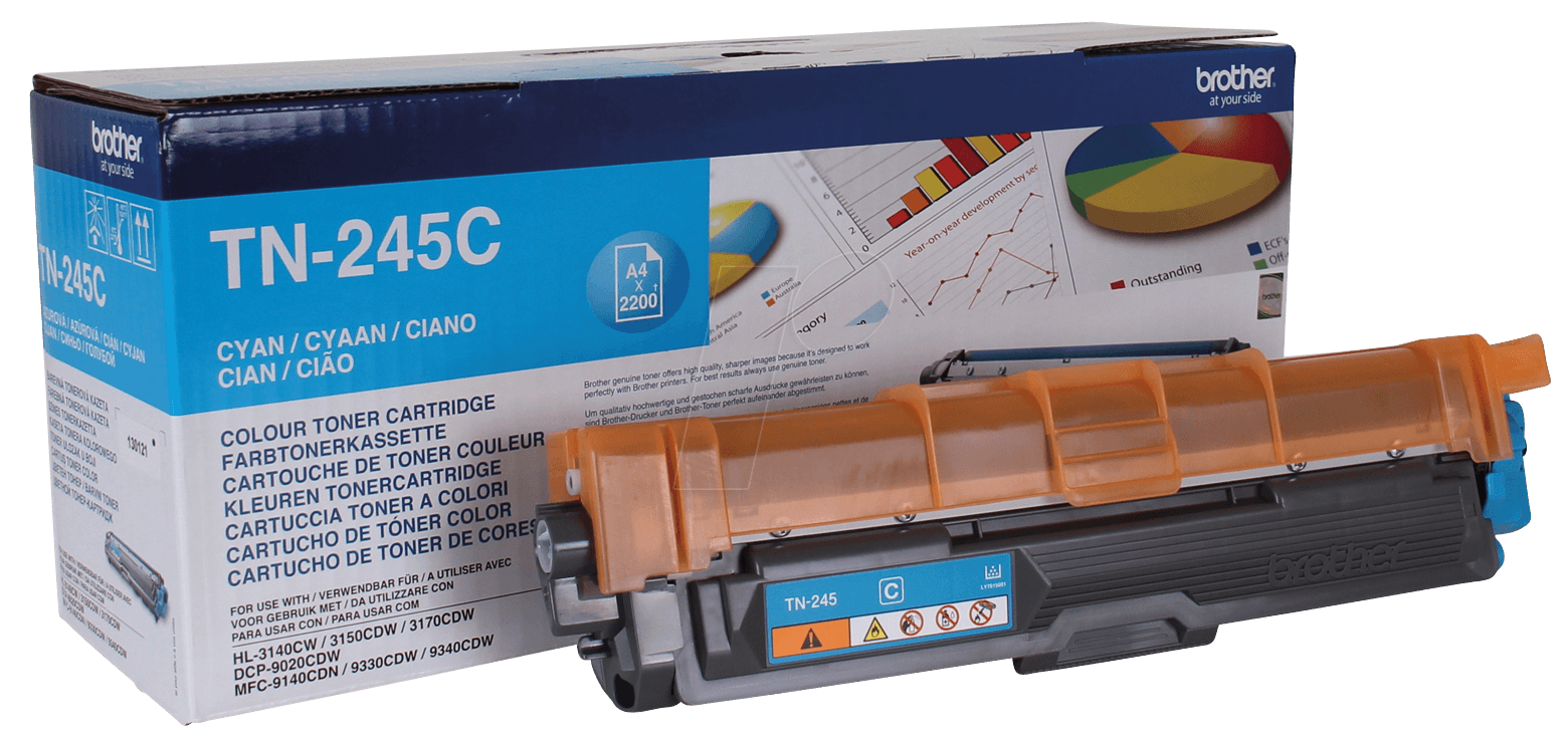 Brother Laser Toner Cartridge Page Life 2200pp Cyan Ref TN245C