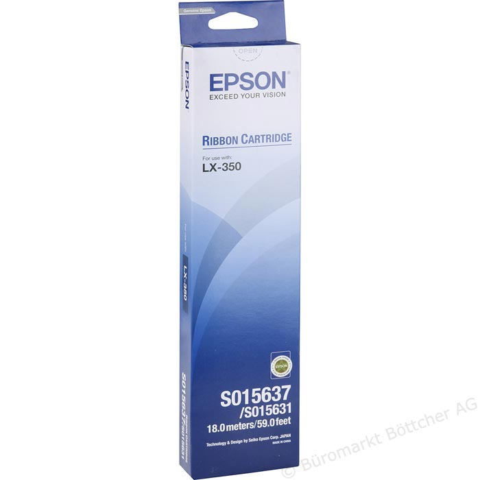 Epson Black Ribbon Cartridge LX350/LX300