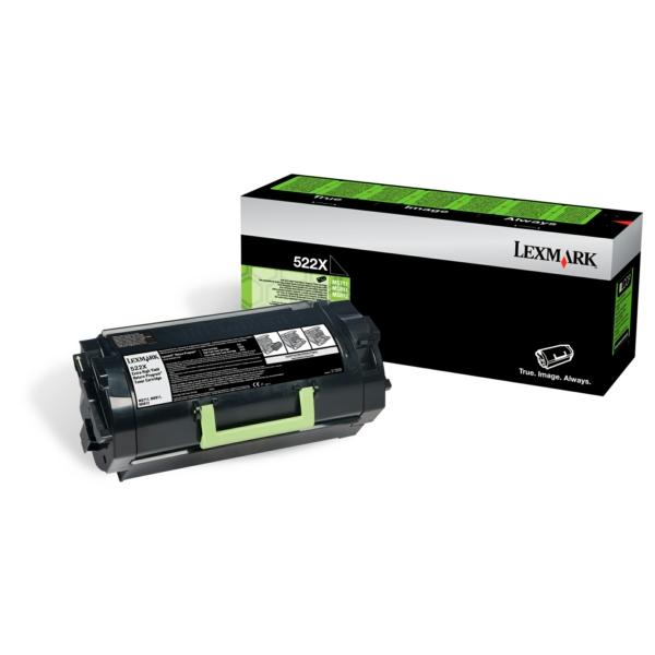 Lexmark 522X Black Corp Toner 52D2X0E