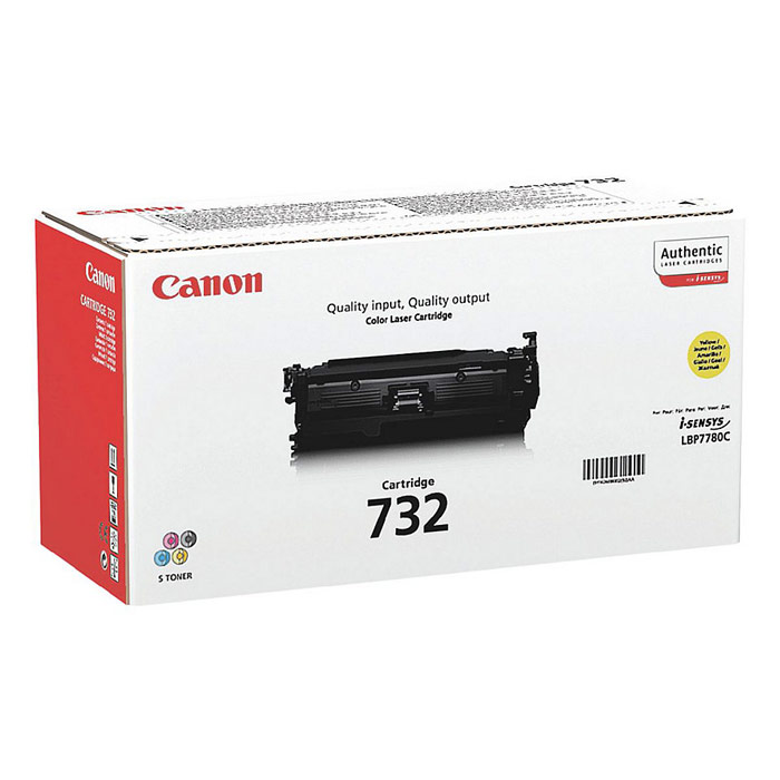 Canon 732 Laser Toner Cartridge Page Life 6400pp Yellow Ref 6260B002