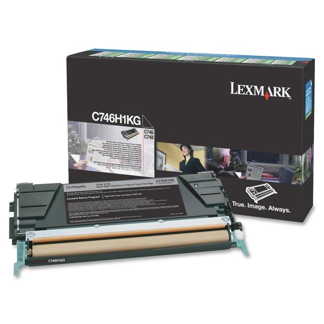 Lexmark Black C748 Rtn/Pg Toner C746H3KG