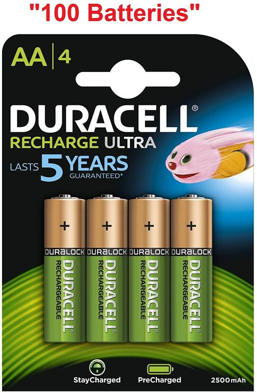 AA Duracell Ultra Power AA Rechargeable Batteries PK4