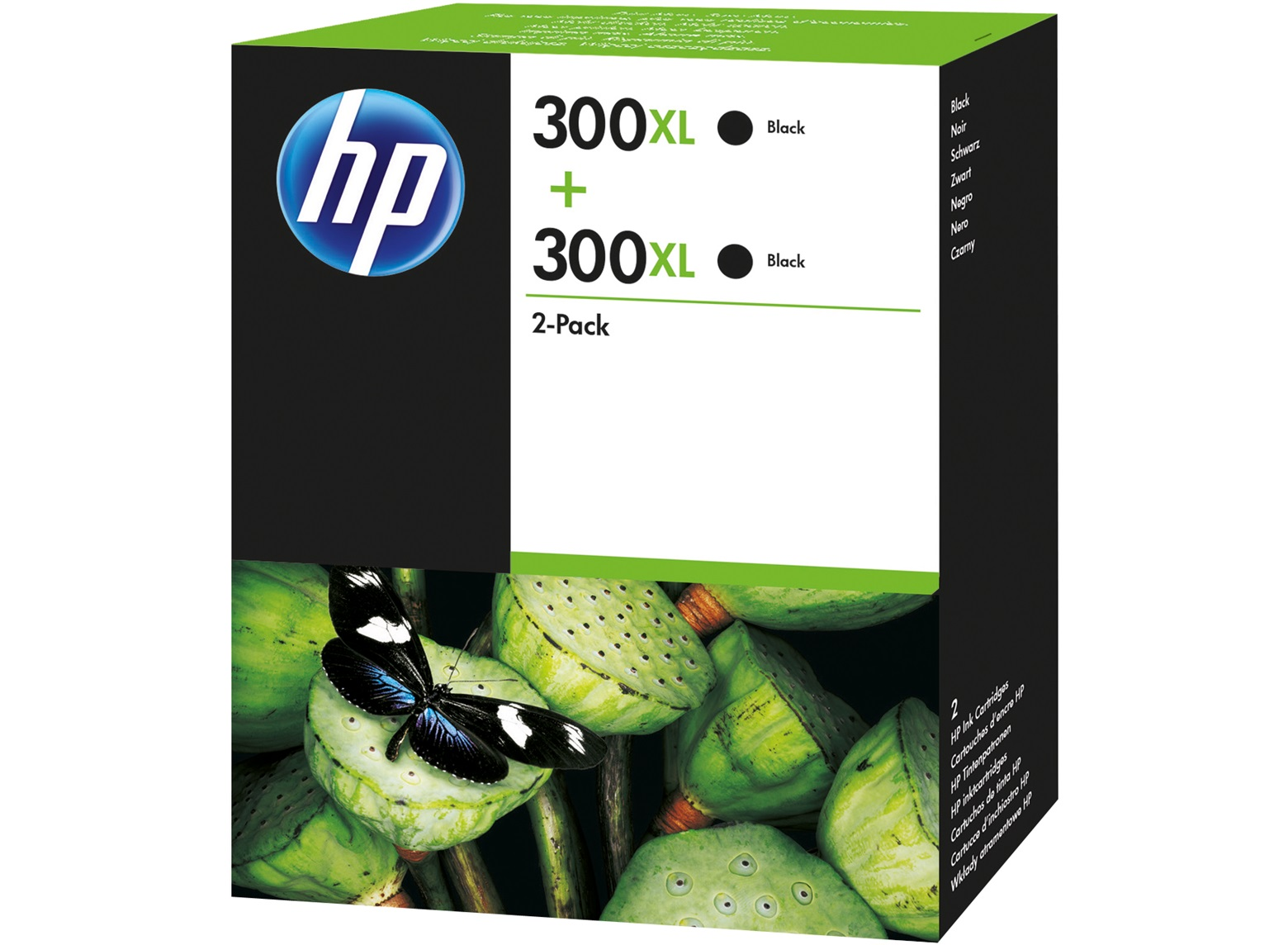 Hewlett Packard [HP] No. 300XL Inkjet Cartridge High Yield Page Life 600pp Black Ref D8J43AE [Pack 2]