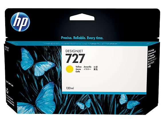 HP 727 Yellow H/Y Designjet Ink B3P21A