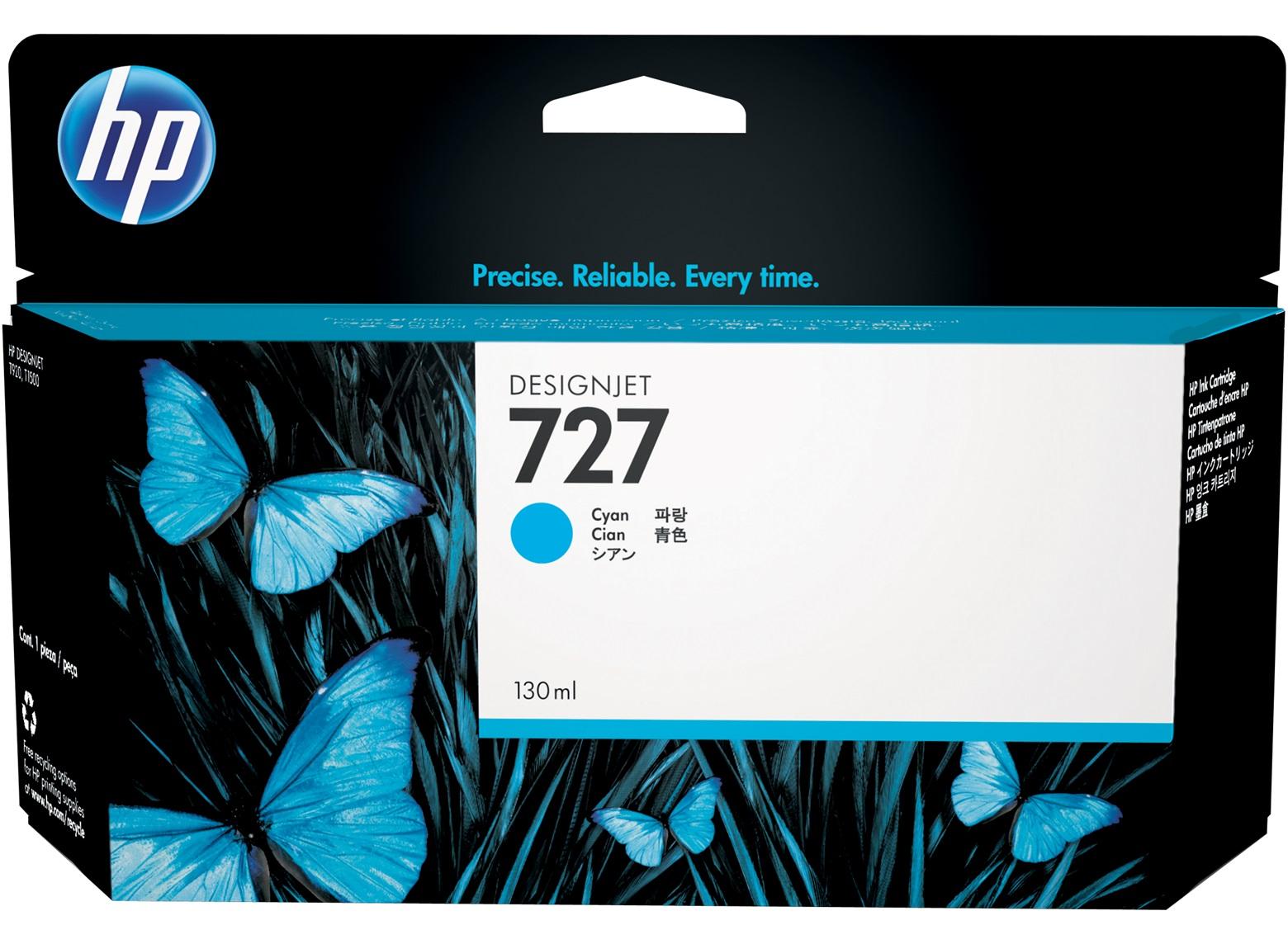 HP 727 Cyan H/Y Designjet Ink B3P19A