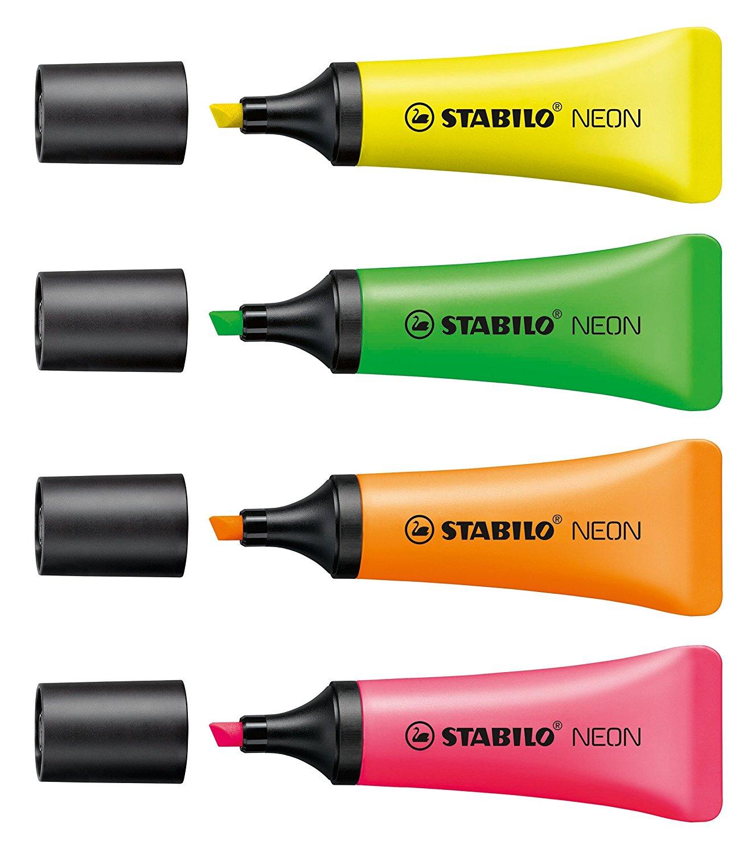 Stabilo Neon Highlighter Assorted 72/4-1