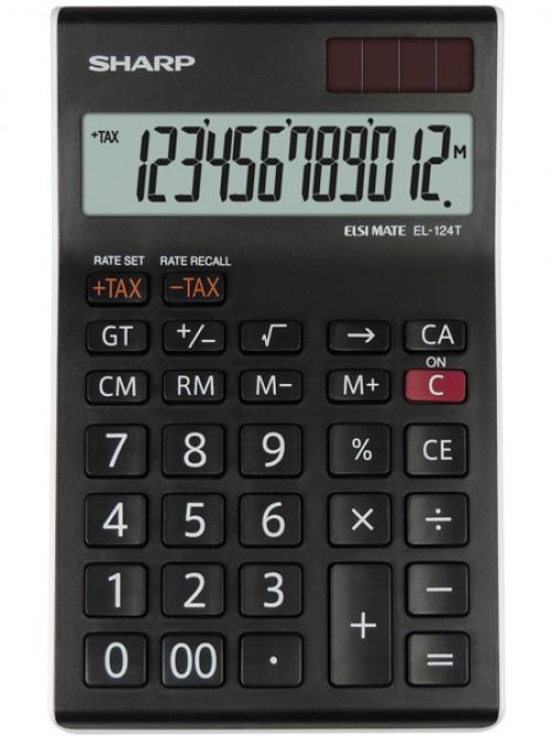 Desktop Calculator Sharp EL124TWH Desktop Calculator 12 Digit