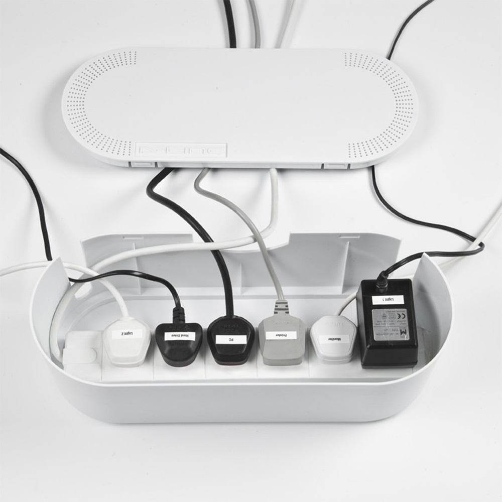 D-Line Cable Tidy Unit Small White