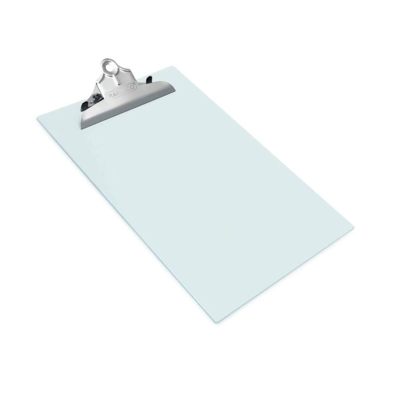 Clipboards Rapesco Heavy Duty Frosted Transparent Clipboar A4 Clear