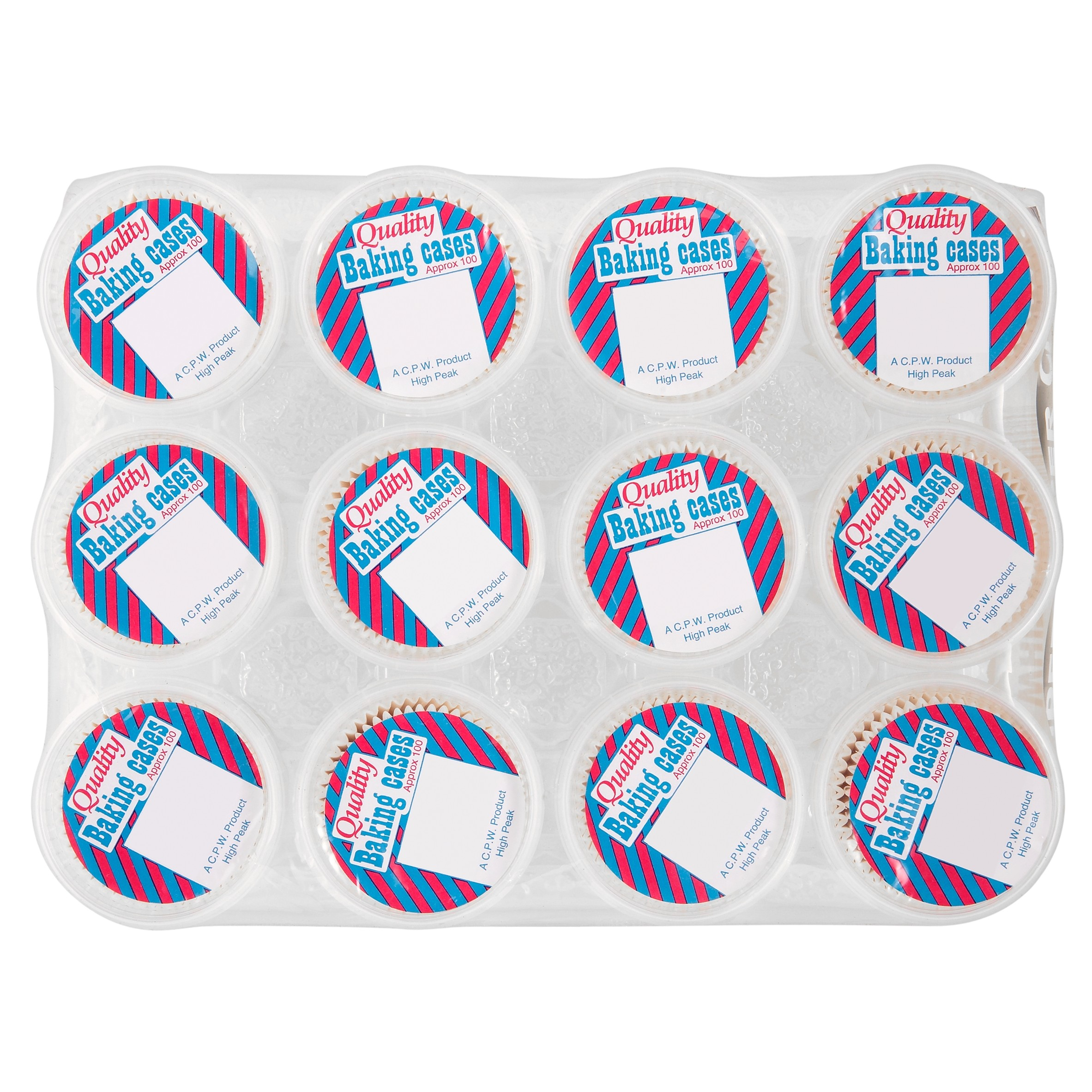 Caterpack White Baking Cases Ref 01895 [Pack 100]