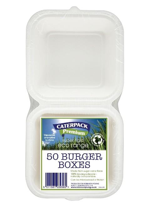 Caterpack Burger Box Rigid Ref 03861 [Pack 50]