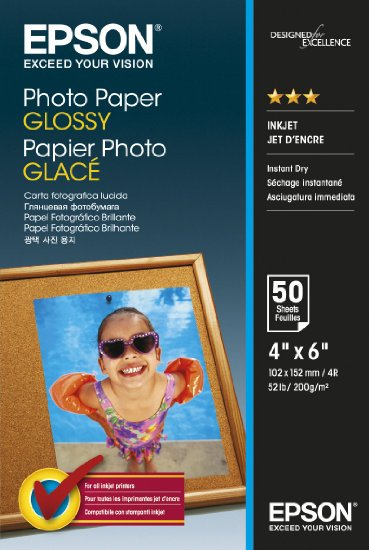 Photo Paper Epson C13S042547 Glossy Photo Paper 10x15cm 50 Sheets