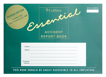 Image for Collins Accident Report Book A5 Landscape 148x210mm Ref ARB2