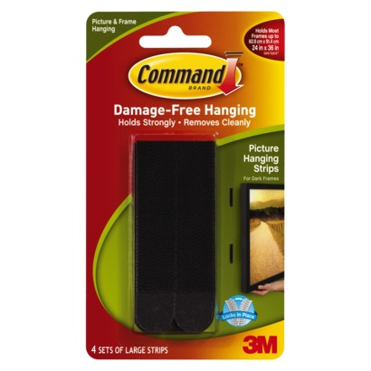 3M Command Large Picture Hanging Strips 17206 PK4