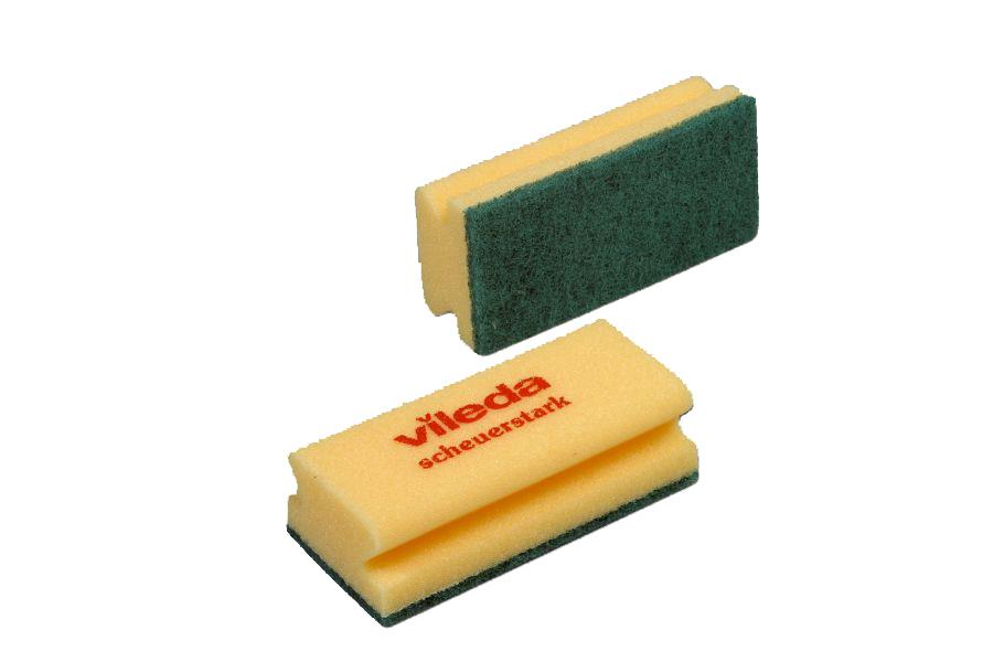 Cloths / Dusters / Scourers / Sponges ValueX Foamback Sponge Scourer Green/Yellow (Pack 10)