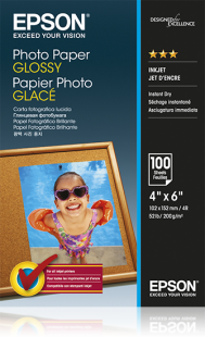 Photo Paper Epson C13S042548 Glossy Photo Paper 10x15cm 100 Sheets
