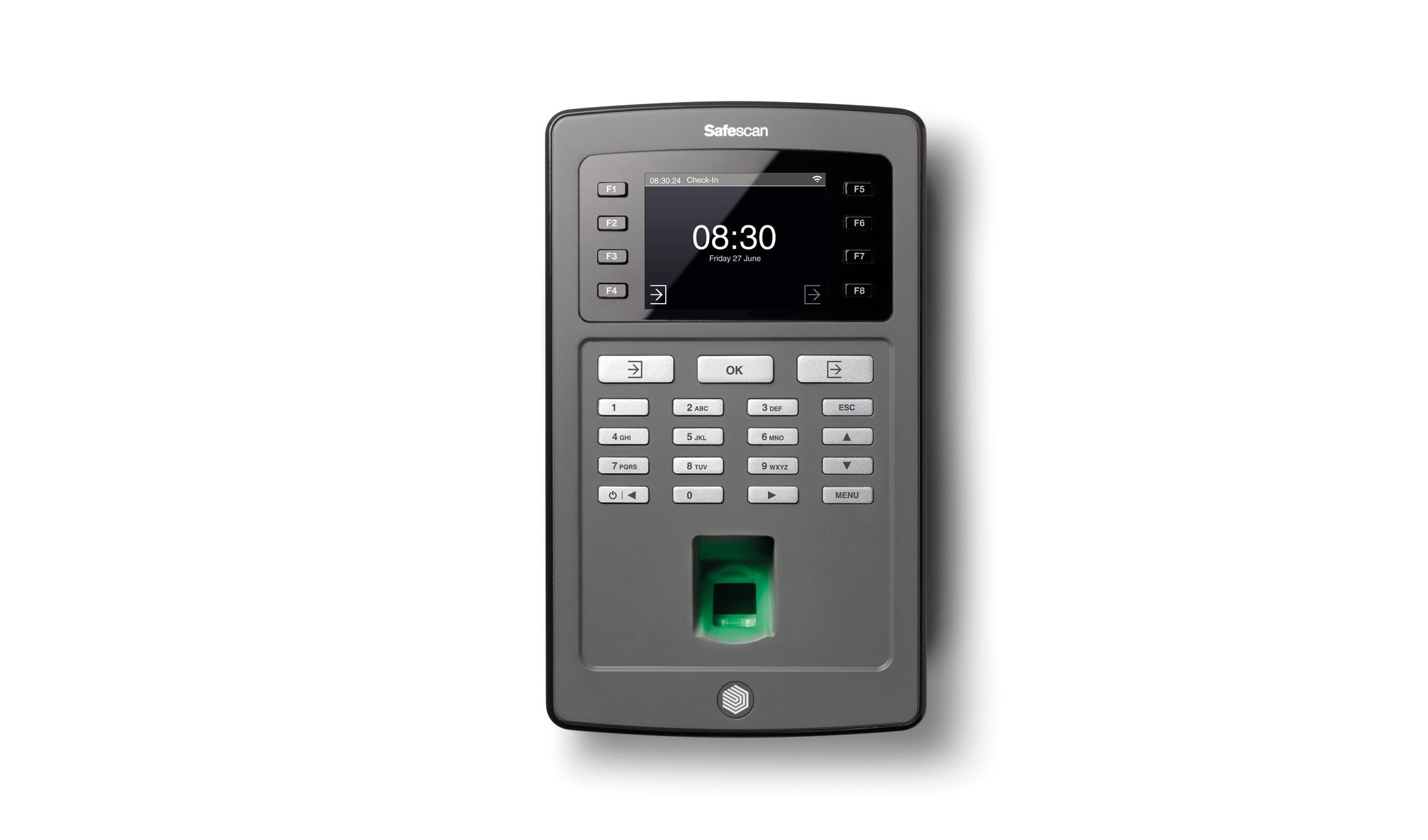 Image for Safescan TA-8035 Clocking in System WiFi Enabled Clocking in System Fingerprint Recognition Ref 125-0487