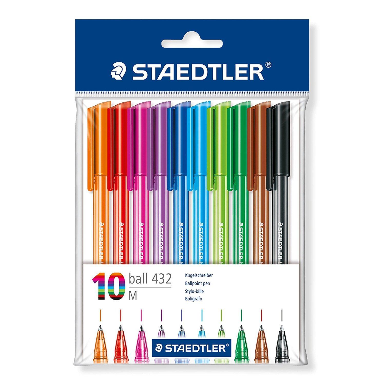 Triangular Ballpoint Pen Asstd PK10