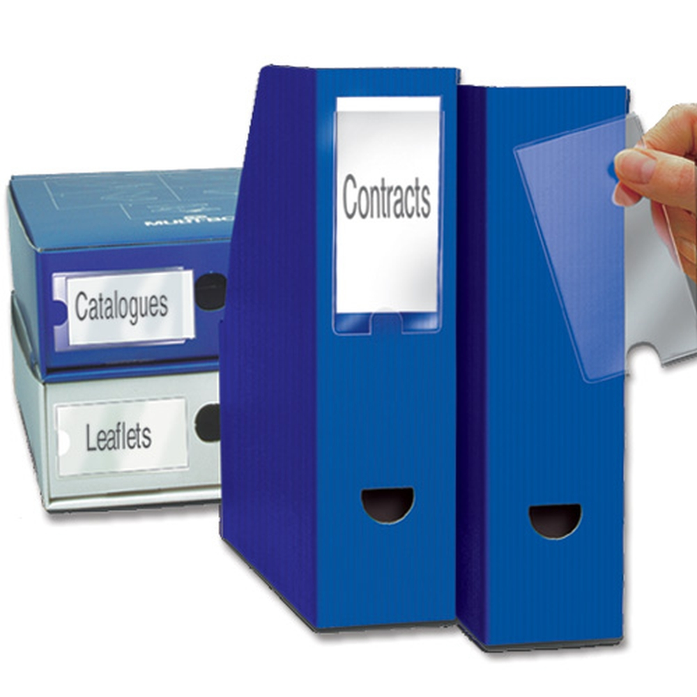 3L Label Holders Self Adh and Inserts 62x150mm 10345 (PK6)