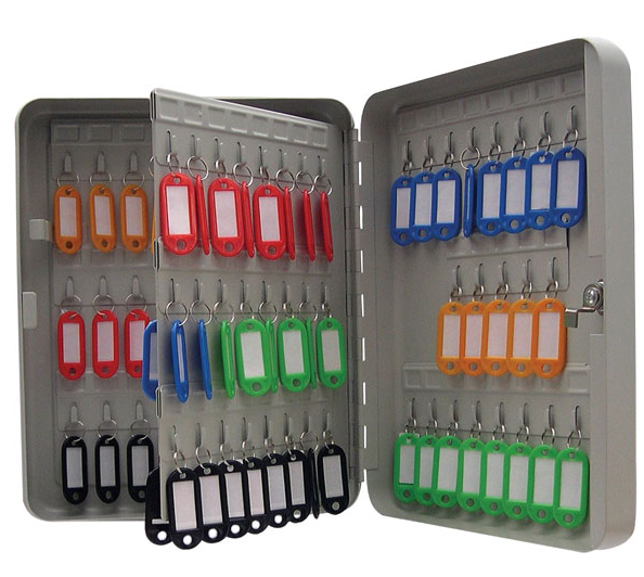 Value Key Cabinet Steel GY Lockable Fixings 93 Keys