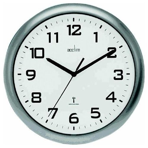 Wall Acctim Cadiz RC Wall Clock 25.5cm Silver 74137
