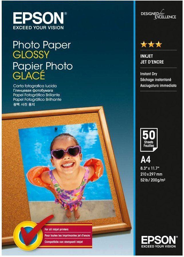 Epson C13S042539 Glossy Photo Paper A4 50 Sheets