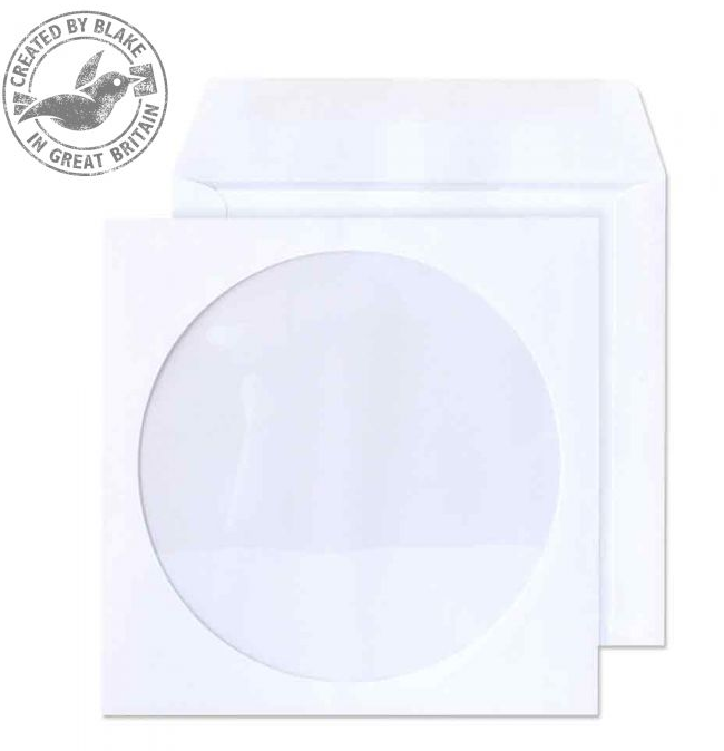 Value Blake Envelopes CD/DVD Wallet 125x125mm White PK50