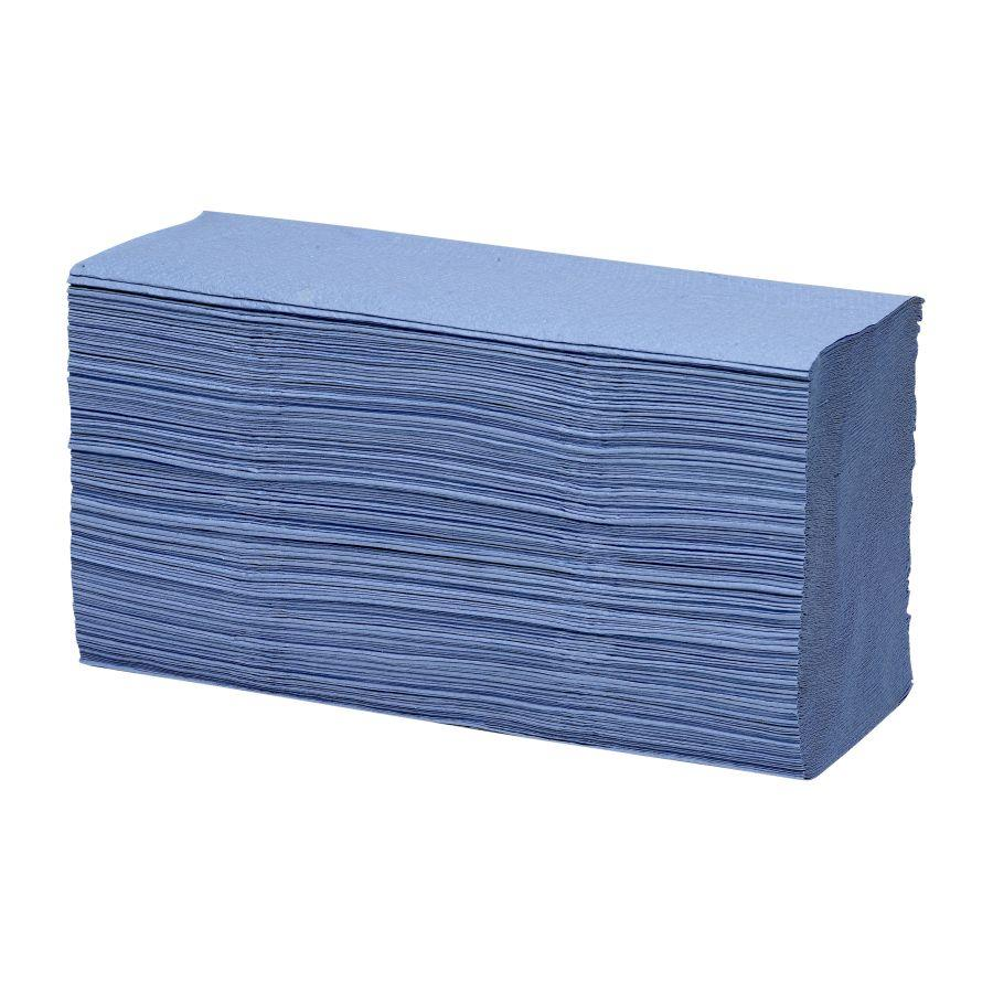 Hand Towels & Dispensers ValueX 1ply Z Fold Hand Towel Blue (12 x 250 Towels) PK3000