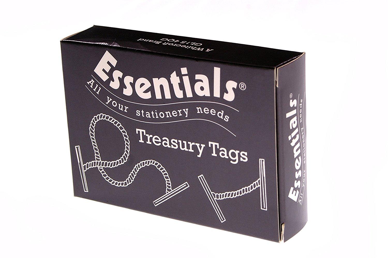 Value Treasury Tag Plas 25mm PK100