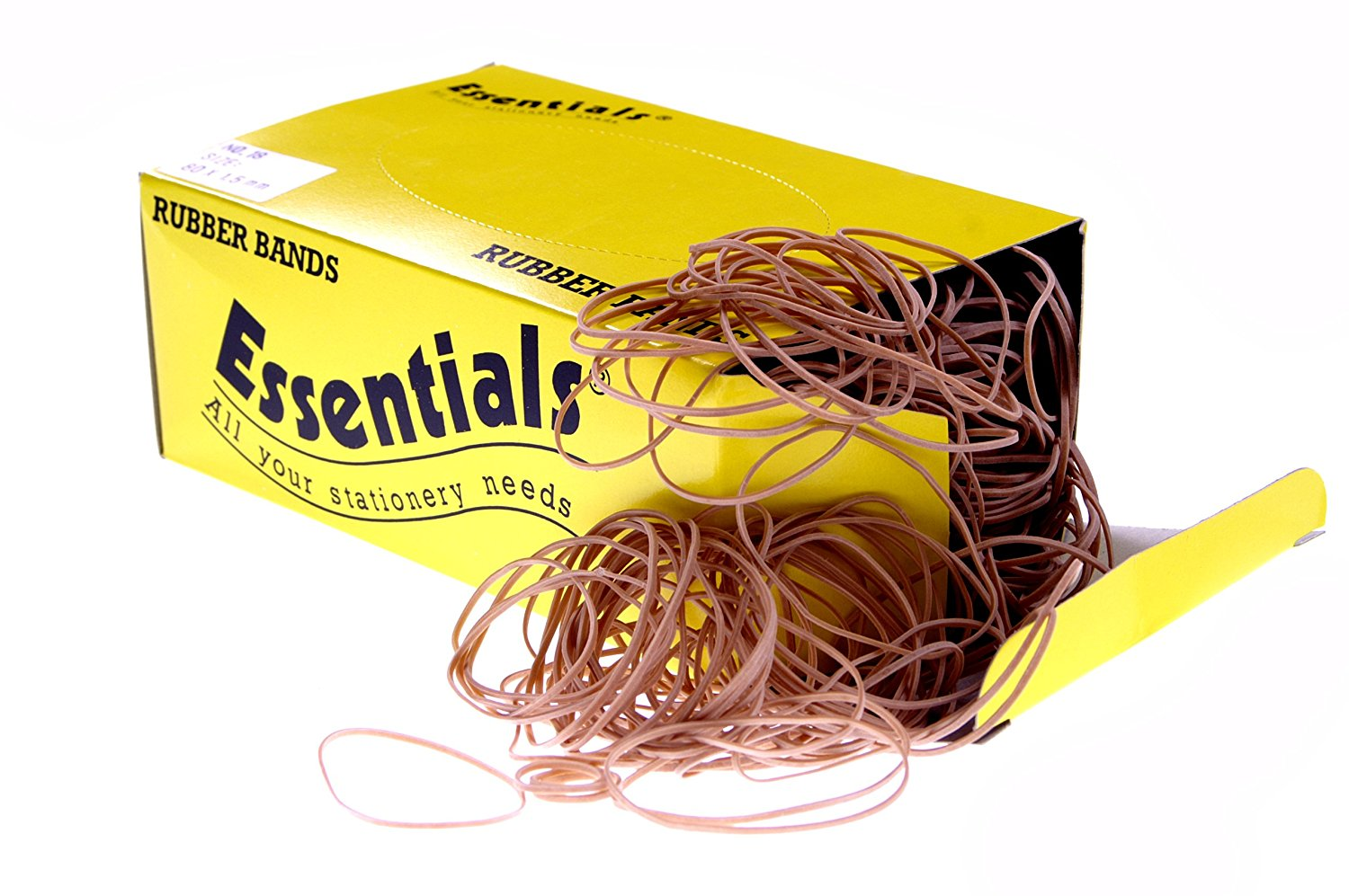 Value Rubber Bands Assorted Sizes Natural 454g